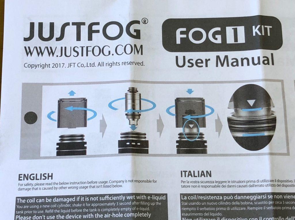 Fog1(just fog)スターターキット